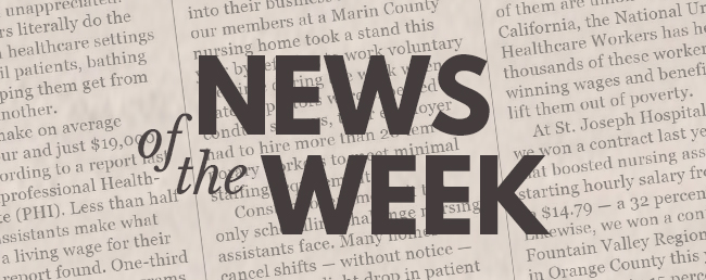 News of the Week for Working People